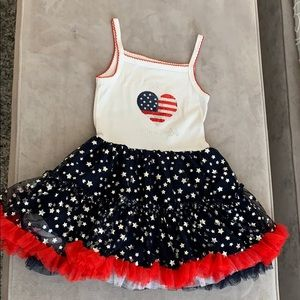4th of July dress with ruffles